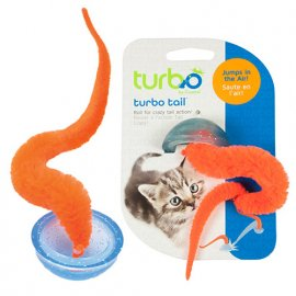 Coastal (Костал) TURBO TAIL POP UP (ТУРБО ТЕЙЛ ХВОСТ) игрушка для котов прыгающая,хвост в полусфере