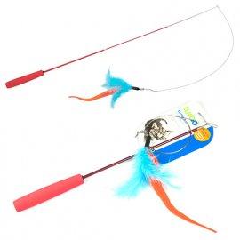 Coastal (Костал) TURBO TAIL TEASER (ТУРБО ТЕЙЛ ТИЗЕР) игрушка для котов, дразнилка, перья