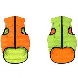Collar (Коллар) AIRY VEST (ЕЙРИ ВЕСТ ДВУСТОРОННЯЯ) куртка для собак, оранжево-салатовый