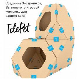 Collar TelePet модульный картонный домик для котов, 1 шт.
