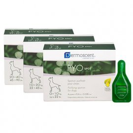 Dermoscent (Дермосент) PYOspot® for dogs - Средство по уходу за кожей и шерстью собак с антибактериальным эффектом