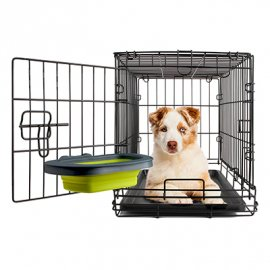 DEXAS Collapsible Kennel Bowl-Large - Миска складная с креплением для клетки для собак и кошек БОЛЬШАЯ