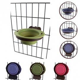 DEXAS Collapsible Kennel Bowl-Small - Миска складная с креплением для клетки для собак и кошек МАЛЕНЬКАЯ