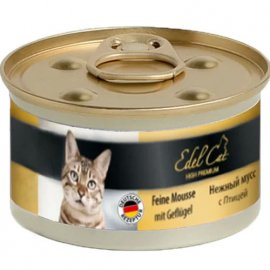 Edel Cat Мousse Консервы для кошек - нежный мусс, ПТИЦА