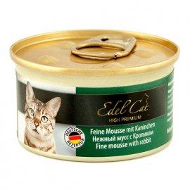 Edel Cat Мousse Консервы для кошек - нежный мусс, КРОЛИК