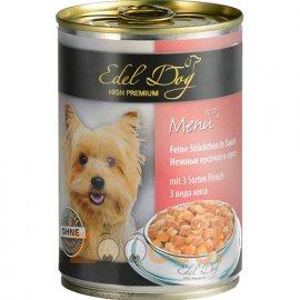 Edel Dog (Эдель Дог) mit 3 Sorten Fleisch - консервированный корм для собак 3 ВИДА МЯСА