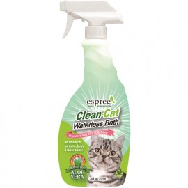 ESPREE (Эспри) Clean-Cat Waterless Bath - Спрей для экспресс чистки кожи и шерсти котов с алоэ вера и травами, 710 мл