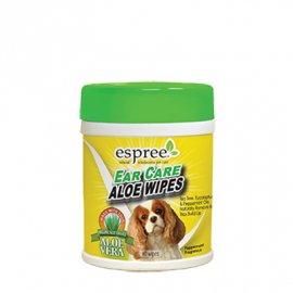 ESPREE (Эспри) Ear Care Wipes - Влажные салфетки с алоэ для ушей для собак и кошек