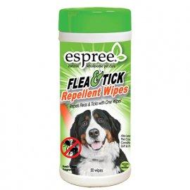 ESPREE (Эспри) Flea & Tick Wipes Влажные салфетки для дополнительной защиты от блох и клещей для собак, 50 шт (СКИДКА 20% - АКЦИЯ)