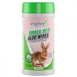 Espree SMALL PET WIPES ALOE VERA влажные салфетки для мелких животных, 50 шт