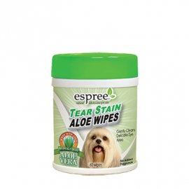 ESPREE (Эспри) Tear Stain Wipes - Влажные салфетки с алоэ и ромашкой для чистки области глаз для собак и кошек, 60 шт.