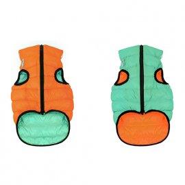 Collar (Коллар) AIRY VEST LUMI двухсторонняя куртка для собак СВЕТЯЩАЯСЯ, оранжево-салатовая