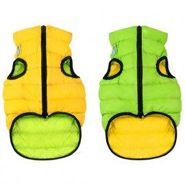 Collar (Коллар) AIRY VEST (ЕЙРИ ВЕСТ ДВУСТОРОННЯЯ) куртка для собак, салатово-желтый