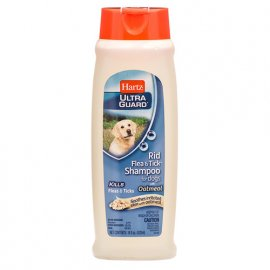 Hartz Flea & Tick Shampoo with Oatmeal - Шампунь от блох и клещей с овсом для проблемной кожи, 532 мл