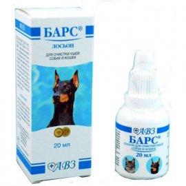 Барс Лосьон для ушей для кошек и собак (для гигиенической обработки), 20 мл