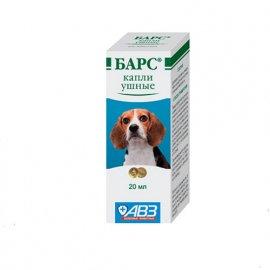 Барс капли для ушей собак и кошек (лечение ушной чесотки), 20 мл
