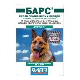 АВЗ БАРС капли для собак от блох и клещей