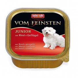 Animonda (Анимонда) Vom Feinsten Junior mit Ring+geflügel - консервы для щенков с ГОВЯДИНОЙ и ДОМАШНЕЙ ПТИЦЕЙ, паштет 150 г