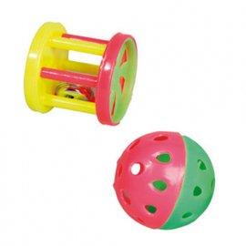 Flamingo CIRCUS игрушка для грызунов с колокольчиком, пластик 2 шт
