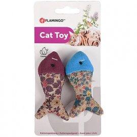 Flamingo MARLY FISH мягкая игрушка для котов, с кошачьей мятой