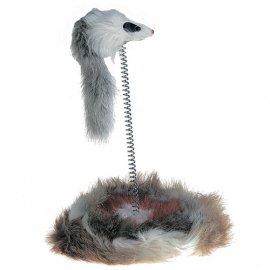 Flamingo MOUSE ON STICK игрушка для кошек, мышь на подставке, мех