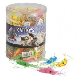 Flamingo PLASTIC SHRIMP игрушка для кошек, креветка латекс