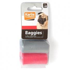 Flamingo SWIFTY WASTE BAGS цветные пакеты для сбора фекалий собак, 2 рулона по 20 пакетов