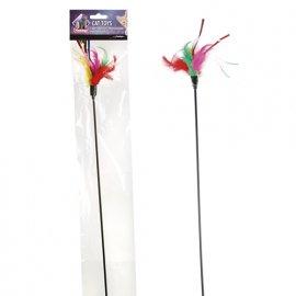 Flamingo TEASER FEATHERS игрушка для кошек, дразнилка с цветными перьями