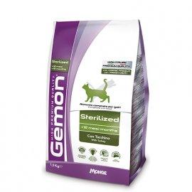 Gemon STERILISED сухой корм для стерилизованных кошек ИНДЕЙКА