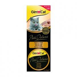Gimсat (Джимкет) Pate Deluxe - консервы для кошек Телятина, 3х21г