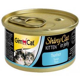 Gimcat Shiny Cat in jelly KITTEN (ТУНЕЦ В ЖЕЛЕ) консервы ДЛЯ КОТЯТ 70 г