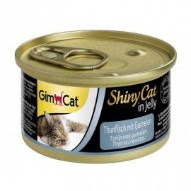 Gimcat Shiny Cat in jelly (ТУНЕЦ С КРЕВЕТКАМИ В ЖЕЛЕ) консервы для кошек 70 г