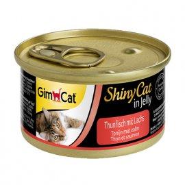 Gimсat (Джимкет) SHINY CAT JELLY (ТУНЕЦ & ЛОСОСЬ В ЖЕЛЕ) консервы для кошек 70 г