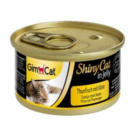 Gimсat (Джимкет) SHINY CAT JELLY (ТУНЕЦ & СЫР В ЖЕЛЕ) консервы для кошек 70 г