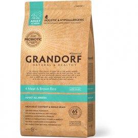 Grandorf (Грандорф) 4 MEAT & BROWN RICE (4 ВИДА МЯСА И РИС С ЖИВЫМИ ПРОБИОТИКАМИ) корм для взрослых собак