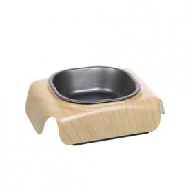 Hagen Catit - Металлическая миска для кошек с отделкой под дерево (54533)