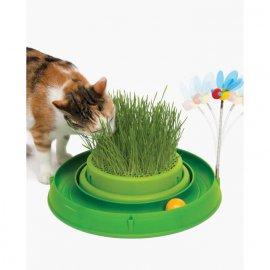 Hagen CATIT GRASS PLANTER 3in1 Игрушка для кошек, игровой круг с мини-садом (43002)