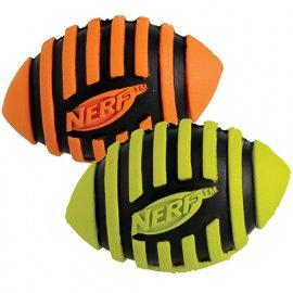 Hagen NERF DOG Spiral Squeak Football Игрушка в форме мяча для регби, 8,5 см