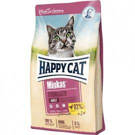 Happy Cat (Хэппи Кет) MINKAS STERILISED (МИНКАС STERILISED) корм для стерилизованных кошек и кастрированных котов