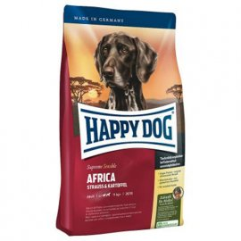 Happy Dog (Хэппи Дог) SUPREME SENSIBLE AFRICA (СУПРИМ АФРИКА СТРАУС КАРТОФЕЛЬ) корм для средних и крупных пород собак с чувствительным пищеварением