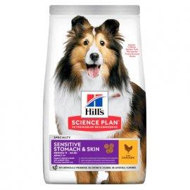 Hill's Canine Adult Sensitive Stomach & Skin корм для собак с курицей