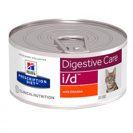 Hill's Prescription Diet i/d Digestive Care лечебные консервы для кошек КУРИЦА, 156 г