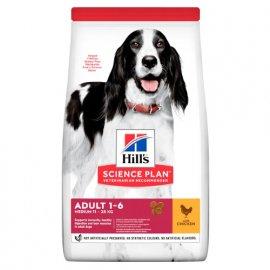 Hill's Science Plan Fitness ADULT MEDIUM корм для собак средних пород С КУРИЦЕЙ