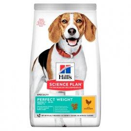 Hill's Science Plan PERFECT WEIGHT MEDIUM корм для поддержания веса у средних собак с курицей