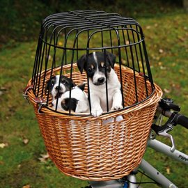 Trixie Bicycle Basket - Корзина с сеткой для крепления на руле велосипеда (2806)