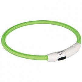 Trixie USB Flash Light Ring - Ошейник светящийся для собак зеленый