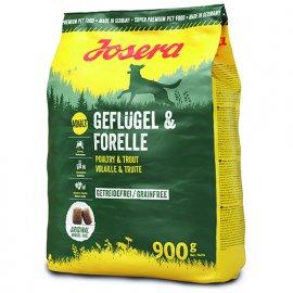 Josera GEFLÜGEL & FORELLE (ПТИЦА И ФОРЕЛЬ) сухой беззерновой корм для собак