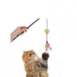 Flamingo (Фламинго) BALL&FEATHERS игрушка-дразнилка для кошек, удочка с мячом и перьями, 50 см
