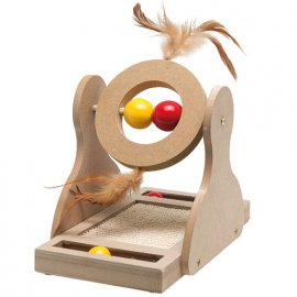 Flamingo (Фламинго) TUMBLER Тумблер игрушка для котов, дерево