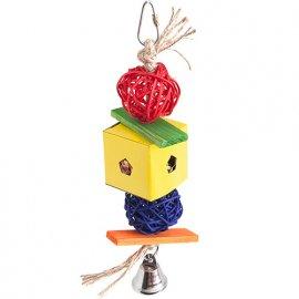 Flamingo Papyr Parakeet Toy Cube Small подвесная игрушка для средних и крупных попугаев